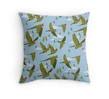 Parakeet Migration Throw Pillow