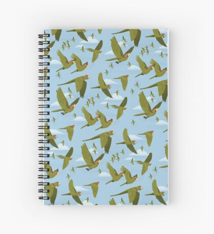 Parakeet Migration Spiral Notebook