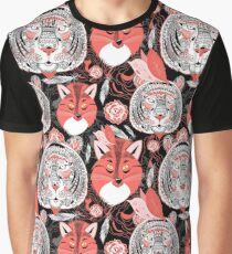 beautiful pattern  portraits of tigers and foxes Graphic T-Shirt