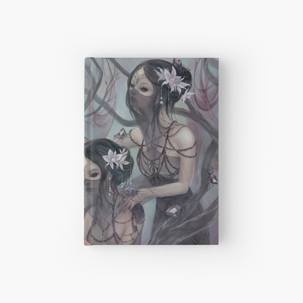collecting silk from crystal spiders Hardcover Journal