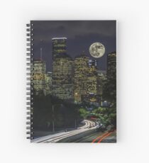 Supermoon over Downtown Houston, TX Spiral Notebook