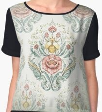 Antique pattern - Beetle and centipedes Chiffon Top