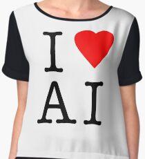 I Love (Heart) Ai Artificial intelligence  Ny parody Chiffon Top