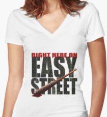 The Walking Dead - Easy Street Women's Fitted V-Neck T-Shirt