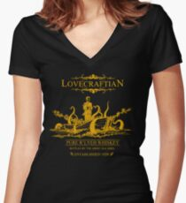 Lovecraftian - R'lyeh Whiskey Gold Label Women's Fitted V-Neck T-Shirt