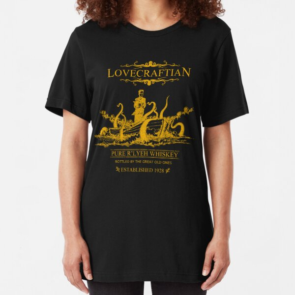 Lovecraftian - R'lyeh Whiskey Gold Label Slim Fit T-Shirt
