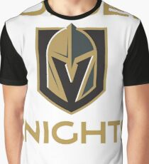 A Golden Vegas Sports Shirt Knight Emblem Tshirt Graphic T-Shirt