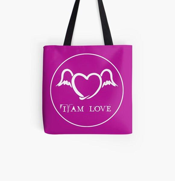 I AM LOVE Allover-Print Tote Bag