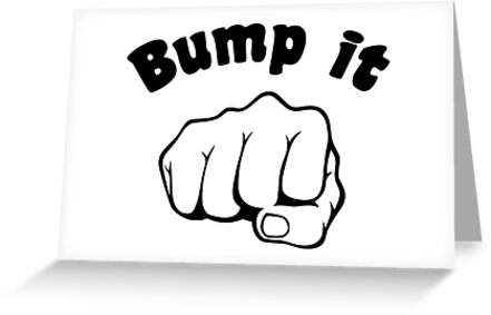 Fist bump it greeting cards by theshirtyurt redbubble fist bump it by theshirtyurt m4hsunfo