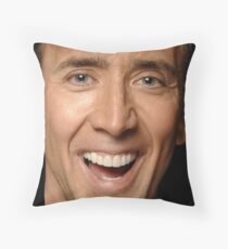 Nicolas Cage Face Throw Pillow II Throw Pillow