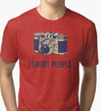 I Shoot People Photography Camera Tri-blend T-Shirt