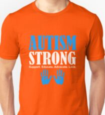 Autism Strong Support white T-Shirt