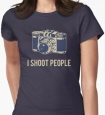 I Shoot People Photography Camera Women's Fitted T-Shirt