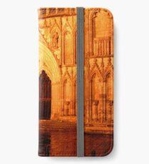 York Minster Portal by night iPhone Wallet/Case/Skin