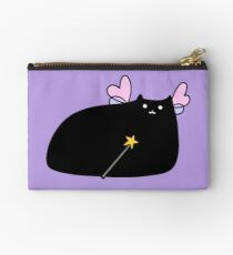 Chubby Black Cat Fairy Zipper Pouch
