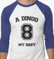 A dingo 8 my baby - black Men's Baseball ¾ T-Shirt