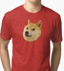 Doge Very Wow Much Dog Such Shiba Shibe Inu Tri-blend T-Shirt