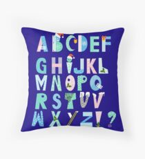 Winter Creative Alphabet Throw Pillow
