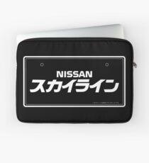 NISSAN N カ ン ン ン (NISSAN skyline) white Laptop Sleeve