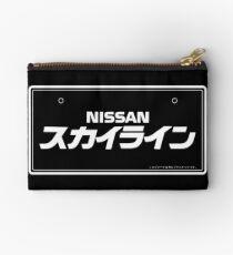 NISSAN N カ ン ン ン (NISSAN skyline) white Studio Pouch