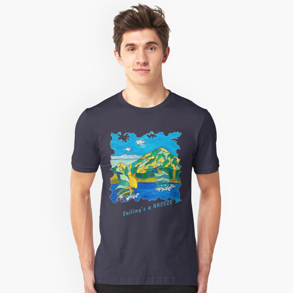 SAILING'S A BREEZE - OCEAN ART Slim Fit T-Shirt