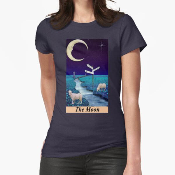 THE MOON Fitted T-Shirt
