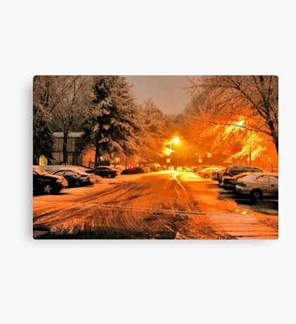 """'""""A Snowy Evening in Knoxville' (a series, no.1)""""... prints and products Canvas Print"""