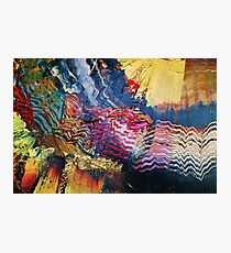 Purple gold yellow abstract Photographic Print