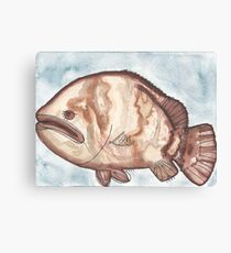 Grouper Starts with G Canvas Print