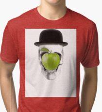 Magritte Skull Tri-blend T-Shirt