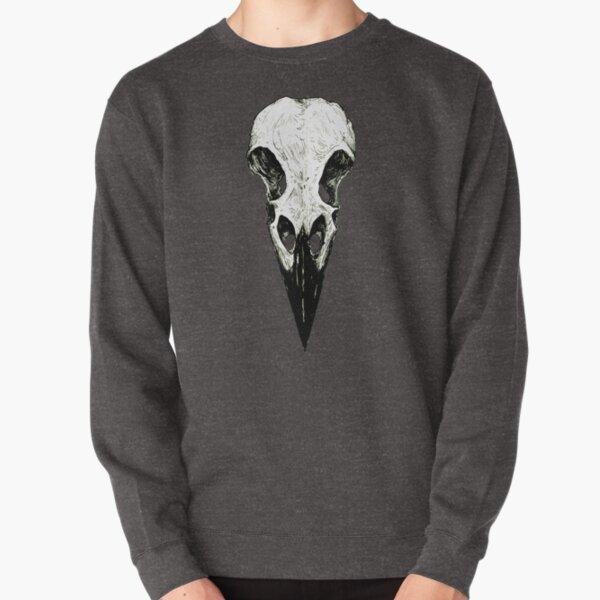 Raven Skull Pullover Sweatshirt
