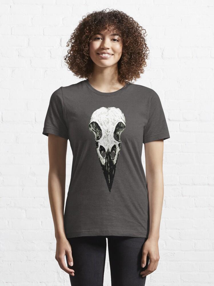 Alternate view of Raven Skull Essential T-Shirt
