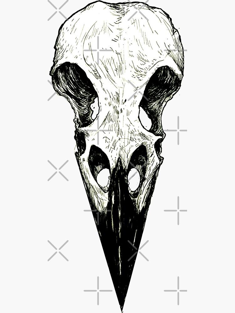 Raven Skull by WishingInkwell
