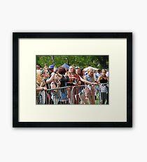 Tentertainment music festival fans Framed Print