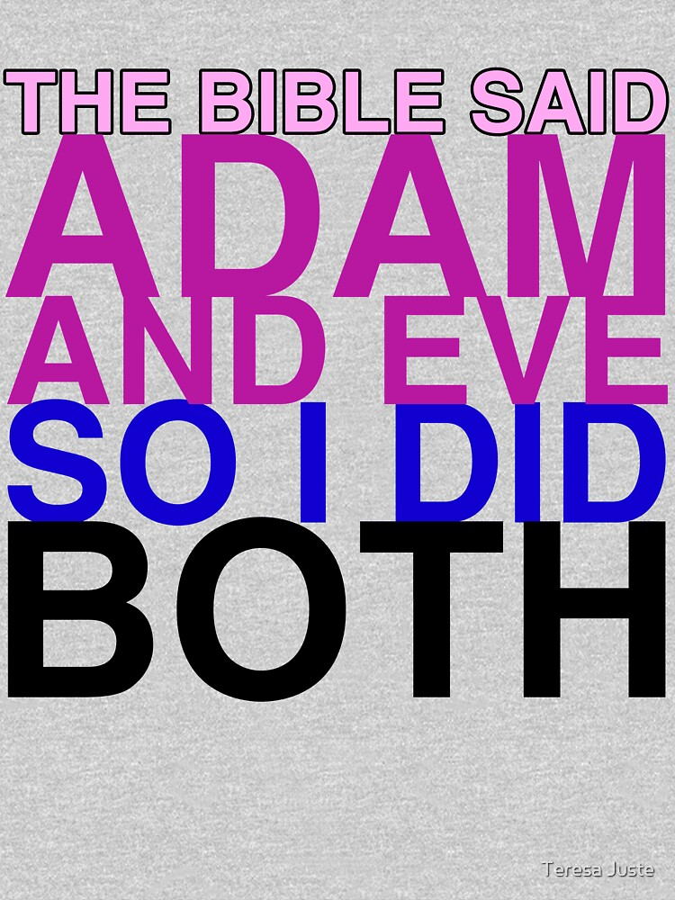 TShirtGifter presents: The Bible said Adam and Eve so I did both.   Unisex Tank Top