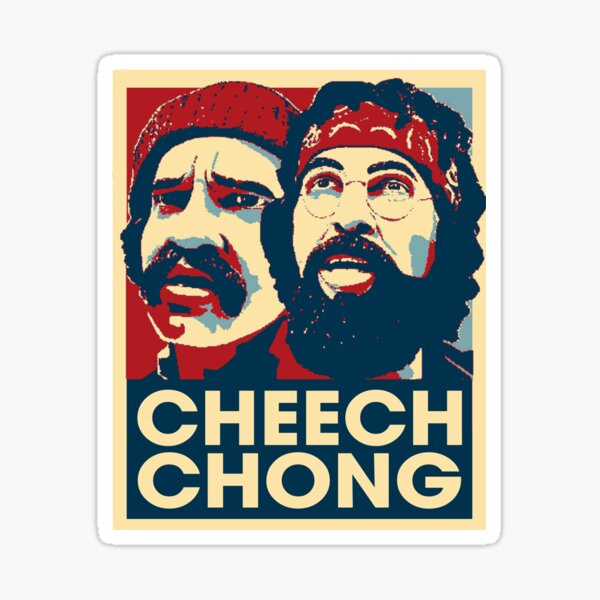 Graphic Cheechs Arts Chongs Films Characters Sticker