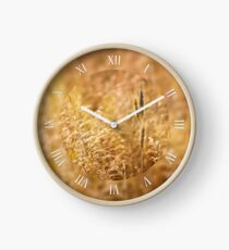 Golden cereal plant detail Clock