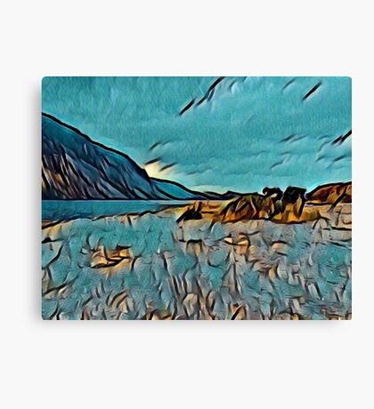 Wast Water in Turquoise Abstract Canvas Print