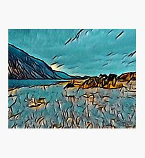 Wast Water in Turquoise Abstract Photographic Print