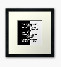 Good People and Death Eaters Framed Print