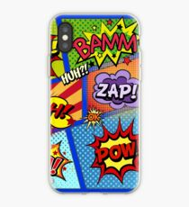Colorful Comic Book Panels iPhone Case