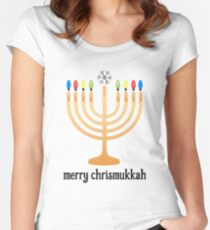 Merry Chrismukkah Women's Fitted Scoop T-Shirt