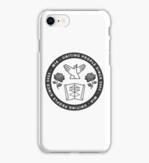 Uniting People - Rose Hands Scroll  iPhone Case/Skin