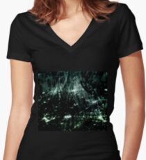 Stellar (jade) Women's Fitted V-Neck T-Shirt