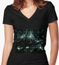 Stellar (jade) Women's Fitted V-Neck T-Shirt