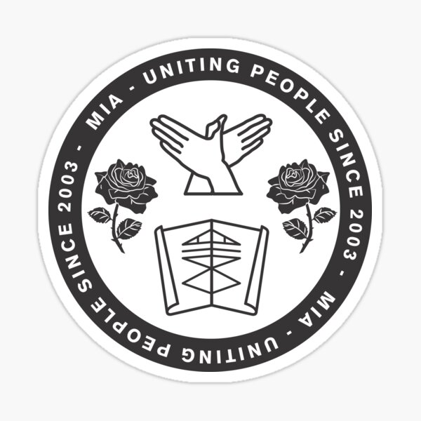 Uniting People - Rose Hands Scroll  Sticker