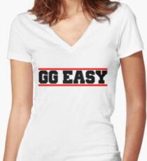 GG EASY Women's Fitted V-Neck T-Shirt