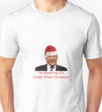 Trump, Dreaming of his white Christmas Unisex T-Shirt