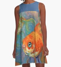 One in A Million goldfish A-Line Dress