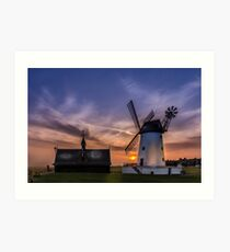 Lytham Windmill at Sunset Art Print